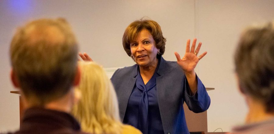 Cynthia Spence spoke to Duke faculty on November 1, 2018.